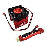 Hot Racing MH404F02 Red Monster Blower Heat Sink Fan w Deans Conn - 1 8 Motors