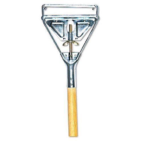 UNISAN Quick Change Metal Head Mop Handle for #20 and Up Heads, 63 Inch Wood Handle (605)
