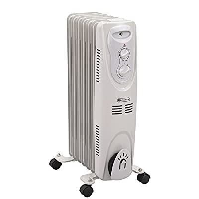 Utilitech GYD-D 5200-BTU 1500W Oil-Filled Radiant Tower Electric Space Heater with Thermostat