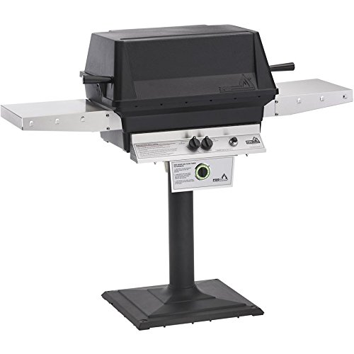 Pgs T-series T40 Commercial Cast Aluminum Freestanding Natural Gas Grill With Timer On Bolt-down Patio Post