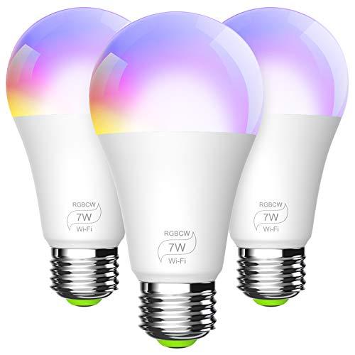 BERENNIS Smart WiFi Light Bulbs, Color Changing LED Lights, Work with Alexa Echo, Google Home, Siri and IFTTT, No Hub…