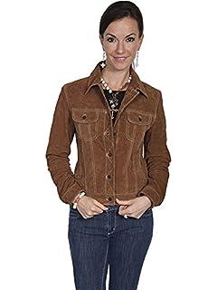 0df273b890653 Scully Womens Raewyn Sherpa Suede Ladies Fun Little Jean Jacket at ...
