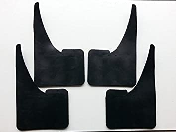 4 X NEW QUALITY RUBBER MUDFLAPS TO FIT  Fiat Punto Evo UNIVERSAL FIT