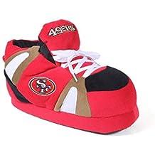 SFR01-3 - San Francisco 49ers - Large - Happy Feet & Comfy Feet NFL Slippers