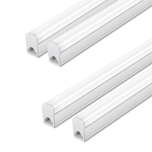 (Pack of 4) LED T5 Integrated Single Fixture,3FT,15W,6500K,1500lm, Linkable Utility Shop Lights, LED Ceiling & Under Cabinet Light, T5 T8 Fluorescent Tube Light Fixture Replacement