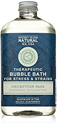 Whidbey Island Natural Organic Bubble Bath - Deception Pass (Rosemary Eucalyptus) 16 oz. Great for sore and tired bodies. Made in the Pacific Northwest, USA
