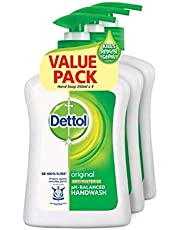 Dettol Value Pack Anti-Bacterial Hand Wash, Original, 250ml (Pack of 3)