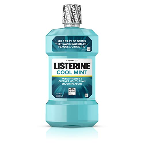 Listerine Cool Mint Antiseptic Mouthwash for Bad