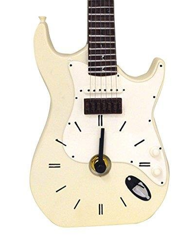 Blanco Fender Stratocaster Guitarra eléctrica reloj de pared (wc222): Amazon.es: Hogar