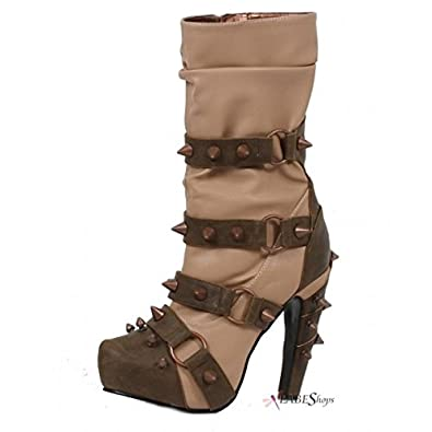 Amazon.com: Hades – Zapatos Bjorn Tan Botitas de Steampunk ...