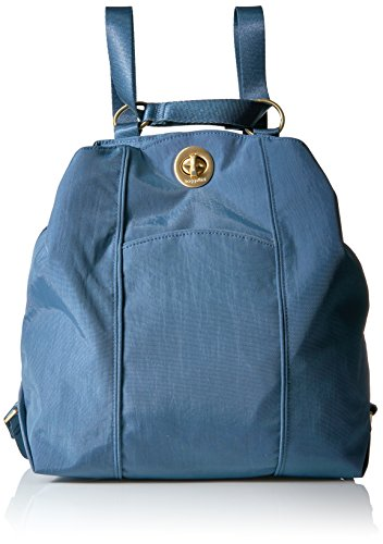 Baggallini Mendoza Backpack, Slate Blue, One Size (Handbags Fabric Slate)