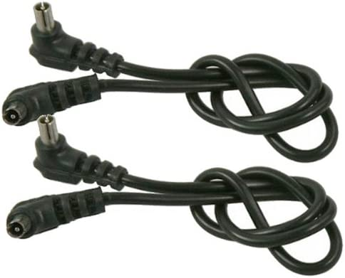 2 x 12 Male to Male Flash PC Sync Cable Cord 2xPC
