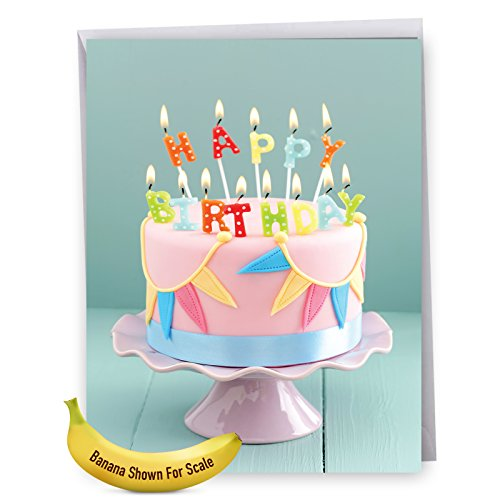 Oversized Birthday Greeting Card With Envelope (8.5