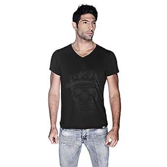 Creo Black Coco Skull T-Shirt For Men - S, Black