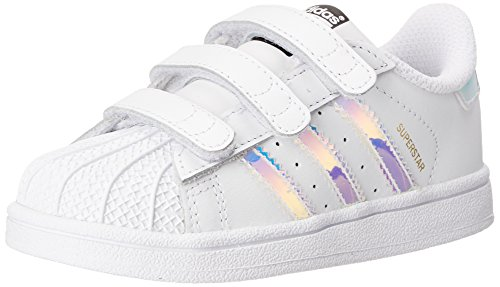 - adidas Originals Boys' Superstar Running Shoe, White/Silver, 8K Medium US Little Kid