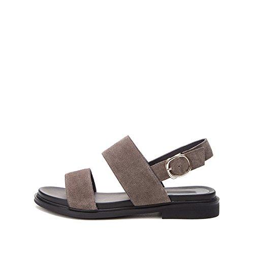 tacco basso basso con estivi Sandali Grigio Tacchi 39 tacco casual DHG Sandali moda alti Sandali a da alla donna piatti Pantofole Oa57P5q
