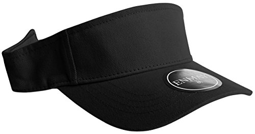 Visors And Hats Golf (Enimay Sports Tennis Golf Sun Visor Hats Adjustable Velcro Plain Bright Colors Black)