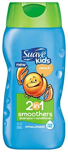 Enfants Suave 2 en 1 shampooing revitalisant, Peach lisseurs 12 oz