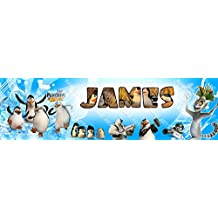 Personalized / Customized The Penguins of Madagascar Name Poster Wall Decor Door Birthday Art Banner