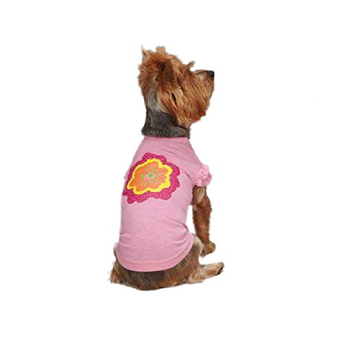 Diva Dog Tee (Zack & Zoey UM292 10 75 Spring Garden Tee for Dogs, X-Small, Pink)