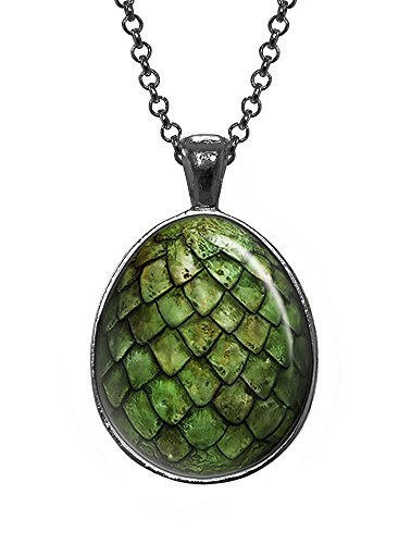 Green Dragon Egg Pendant, Game of Thrones Jewelry, Geek Necklace, Girl Gift, Birthday Gifts, khaleesi, Daenerys (Dragon Girl Game Of Thrones)