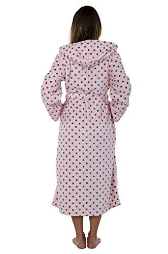 Hoodie Robe Hooded Robe Spa Bathrobe Hoody Robe Long Robe … (Large, Pink Polka Dot) by Love This Robe (Image #3)'