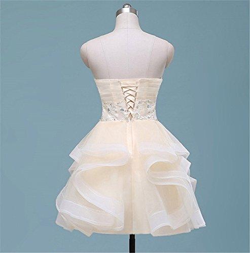 Champagnerfarben Drasawee Empire Damen Damen Drasawee Kleid vX8wv