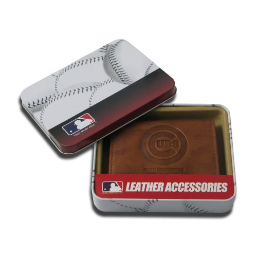 - MLB Chicago Cubs Embossed Genuine Cowhide Leather Trifold Wallet