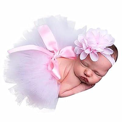 Clearance! Napoo Newborn Baby Girls Photo Photography Tutu Skirt+Flower Headband Costume Set