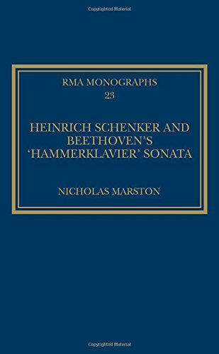 Heinrich Schenker and Beethoven's 'Hammerklavier' Sonata (Royal Musical Association Monographs) by Routledge