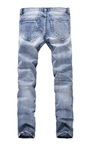 Base Abbigliamento Hellblau Slim Uomo Pantaloni Azzurri Regular Stretch Vintage Dritti Da Fit Di Elasticizzati Jeans FT87TU