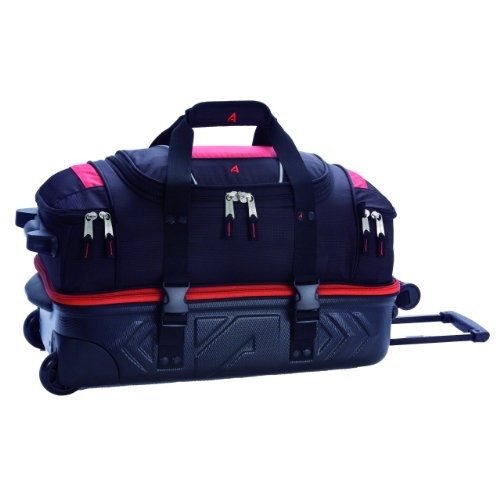 athalon-luggage-molded-wheeling-carryon-detachable-duffel-bag-red-black-21-inch
