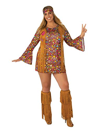 Plus Size Peace And Love Hippie