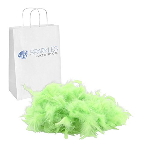 Sparkles Make It Special Feather Boa - 2 Yards (6 Foot) Kids Birthday Bachelorette Mardi Gras Party Wedding Halloween Dress Up Costume Accessory - 13 Colors - Apple Green