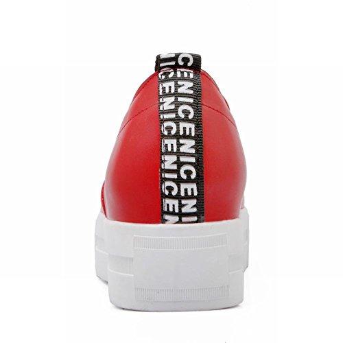Mostrar Las Zapatillas De Deporte Shine Mujeres Fashion Stars Flat Heel Red