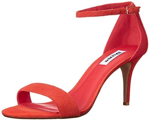 Dune London Women's Mariee dress Sandal - Orange Suede - ...