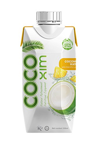 COCOXIM - Coconut Water with Pineapple Juice, No Preservatives, All Natural - 11.2 ounce (Pack of 12)