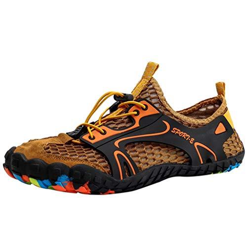 NEEKEY Couple Men's Women's Low Top Running Shoes Fashion Outdoor Hike Walking Breathable Lightweight Non Slip ()