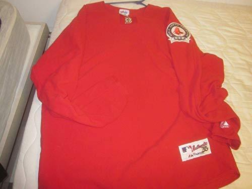 2005 Boston Red Sox Game Used Sweatshirt Lynn Jones LOA - Other Game Used MLB Items