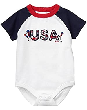 Baby White USA Bodysuit by Gymboree