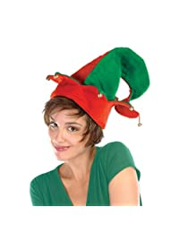 Beistle 1-Pack Felt Elf Hat with Bells