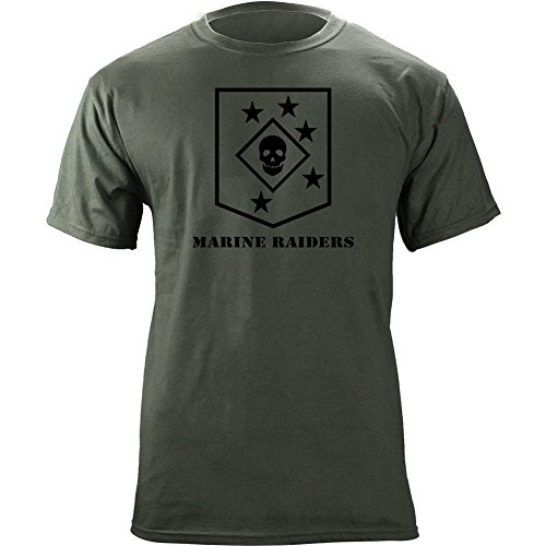 USAMM Marine Raiders Subdued Veteran T-Shirt (2XL, Green) (Subdued Marine)