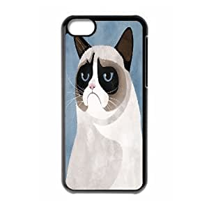 Jumphigh Cute Grumpy Cat IPhone 5C Case I Had Fun Once. Cute Grumpy Cat for Guys, Phone Case for Iphone 5c, {Black}