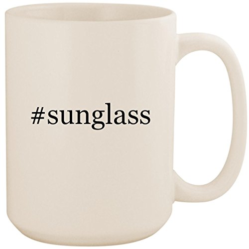 #sunglass - White Hashtag 15oz Ceramic Coffee Mug - Cartier Glasses Wholesale