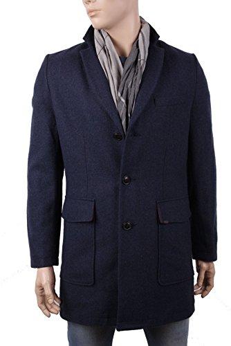 Timberland Hombre Abrigo De Lana Viajero CField Talla (Medium, Azul Oscuro)
