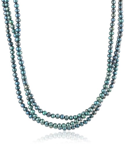 """Peacock Freshwater Cultured Pearl Endless Necklace (5-5.5mm), 100"""""""