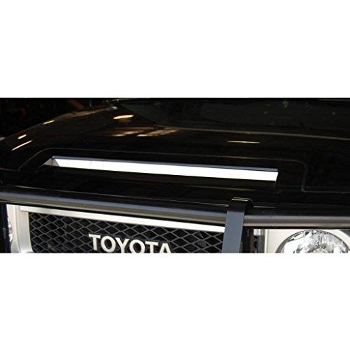 Accessories Aftermarket Fj Cruiser (Polished Stainless Hood Insert Trim fits: 2007-2013 Toyota FJ Cruiser - Ferreus Industries - OTH-102-04)