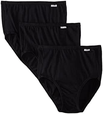 Jockey Women's Underwear Elance Brief - 3 Pack, black, 5