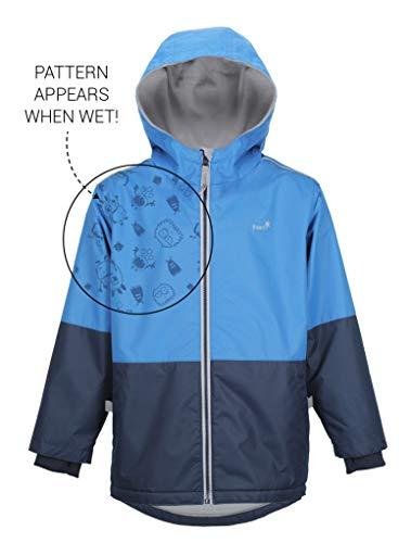- Therm Wind Waterproof Lightweight Fleece Lined Rain Jacket SplashMagic Print (8, Marine Blue)