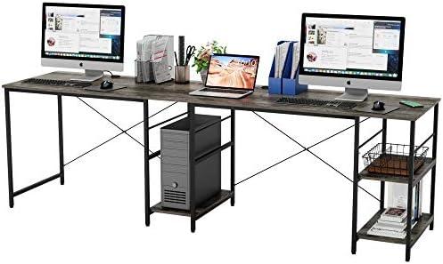 Best modern office desk: Bestier Industrial 95″ Long Desk